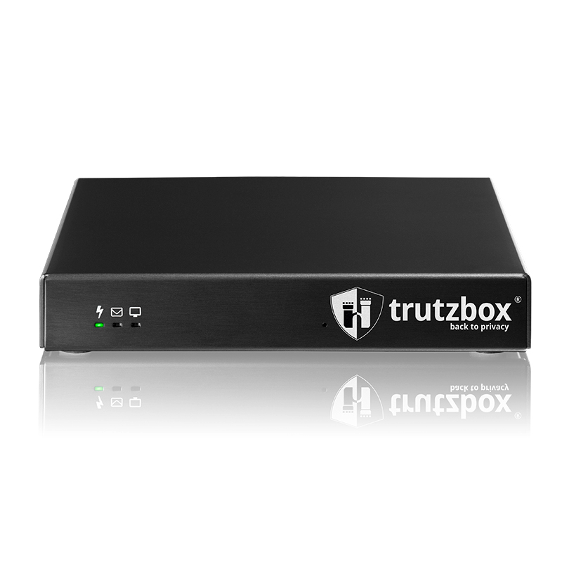 Frontansicht der Privacy-Box Trutzbox