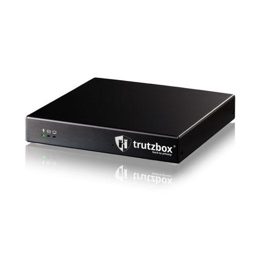 Seitliche Ansicht der Privacy-Box Trutzbox