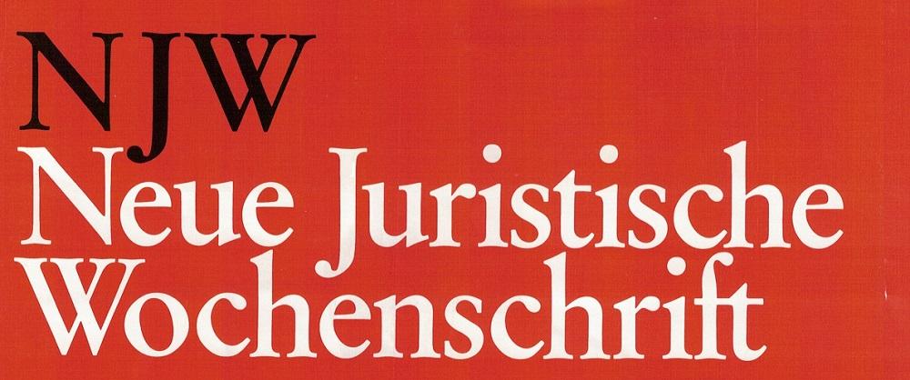 """Artikel in Neue Juristische Wochenschrift 47/2017 """"Privacy by Design in der anwaltlichen Praxis"""""""