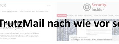 22.05.2018   Informationen zu Schlagzeilen, dass PGP- und S/MIME-verschlüsselte E-Mails nicht mehr sicher seien