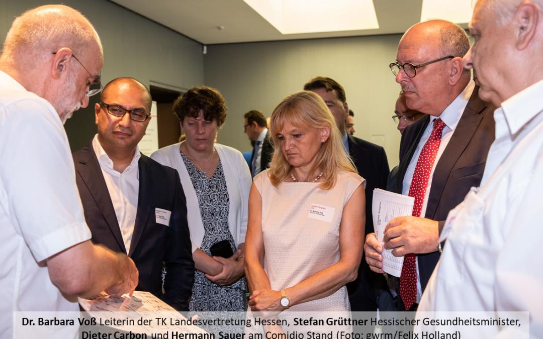"""08.08.2018 eHealth Kongress, IHK Frankfurt: Comidio stellt aus – Hermann Sauer referiert zu """"Sichere Kommunikation in der Praxis"""""""