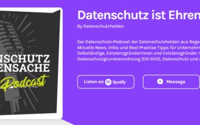 10.08.2020 Hermann Sauer im aktuellen Podcast der Datenschutzhelden zum Thema Videokonferenz